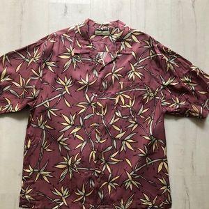 Tommy Bahama Silk Tropical Print Shirt.